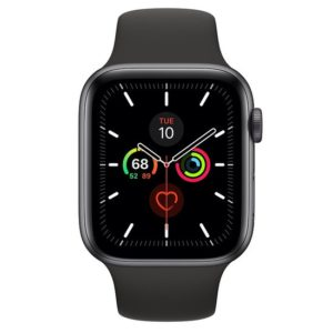 Apple Watch Series 5 GPS 40mm Space Grey Aluminium Case with Black Sport Band (MWV82GK/A)