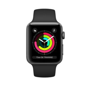Apple Watch Series 3 GPS 42mm Space Gray Aluminum Case with Black Sport Band (MTF32FS/A)