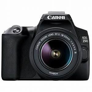 Canon EOS 250D Black + Lens EF-S 18-55 DC III
